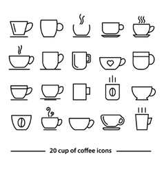 Cup of coffe icons vector