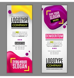 Set with banners for web site vector