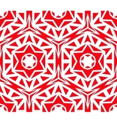 Solid geometric red rose pattern vector