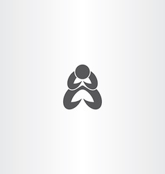 Man praying icon symbol vector