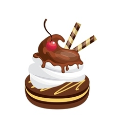 Dessert icon bakery design graphic vector