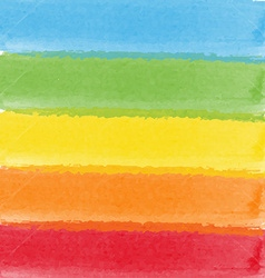 Abstract watercolor rainbow colors background vector