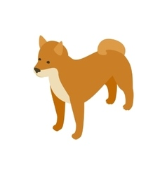 Akita dog icon isometric 3d style vector