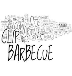 Barbeque clip art text word cloud concept vector