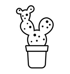Big cactus icon outline line style vector