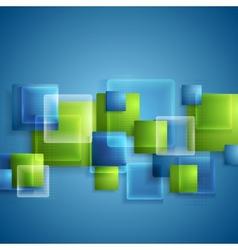 Bright glass transparent squares background vector