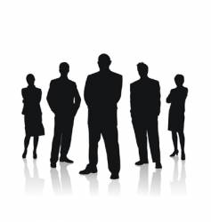 business people team vector image vector image