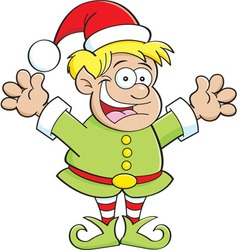Cartoon elf child vector image vector image