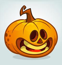 cartoon halloween pumpkin head vector image