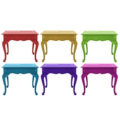 Colourful wooden tables vector