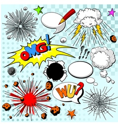 Comic elements vector image vector image