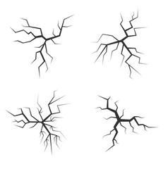 crack set vector image