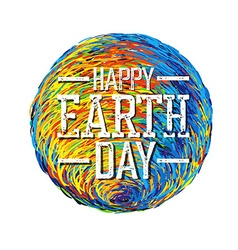 Earth Day Poster Earth Earth on whi vector image vector image