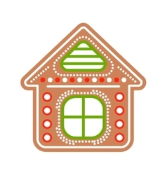 Gingerbread house cookies vector