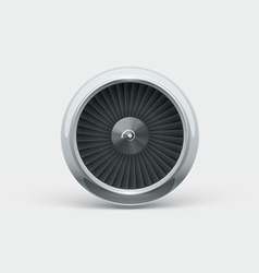 Jet engine front view 3d object isolated on white vector