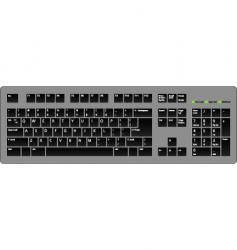 keyboard blac vector image vector image