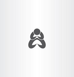 Man praying icon symbol vector