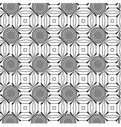 monochrome geometric pattern background vector image