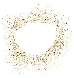 Oval background with sand vector image vector image