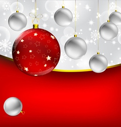 Stylish Christmas baubles background vector image vector image