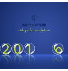 Transparent rolling glass balls on blue background vector image vector image