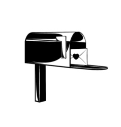 Vintage post service icon Mail box vector image
