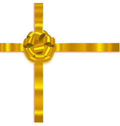 Yellow isolated realistic bow vector
