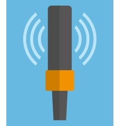 Microphone gadget sound design vector