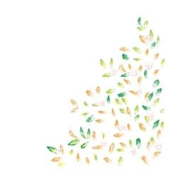 Autumn hand drawn background vector image