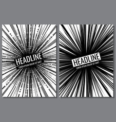 Brochure templates with comic speed line vector