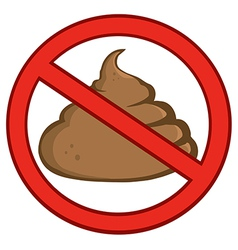 Cartoon poo vector image