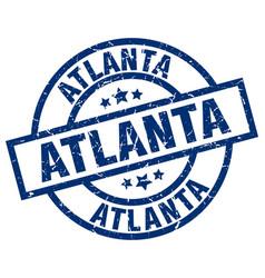Atlanta blue round grunge stamp vector