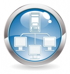 computer network icon vector image