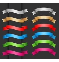 Set of ribbon banner for your text vector