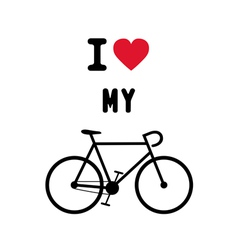 I love bicycle2 vector