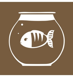 Fish in aquarium vector