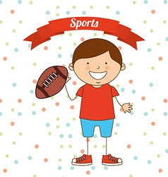 Kids sports vector