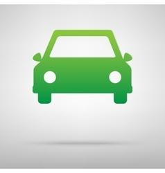 Car green icon vector