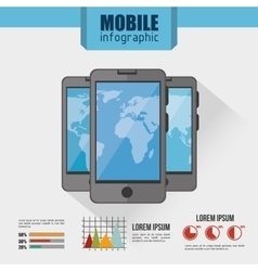 Mobile infographic design vector
