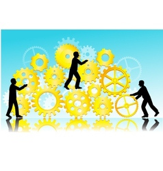 Business teamwork vector
