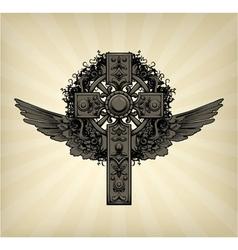 dark gothic vector image
