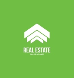 Abstract real estate house logo vector image