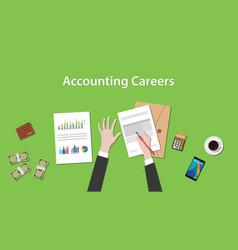 accounting careers with a man writing vector image vector image