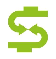 arrow growth money icon vector image vector image
