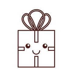 christmas gift box celebration decoration vector image