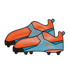 Cleats football soccer shoes icon image vector