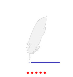 feather it is icon vector image vector image