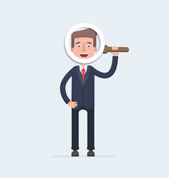 handsome businessman in formal suit looking vector image vector image