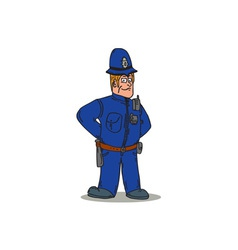 London policeman police officer cartoon vector