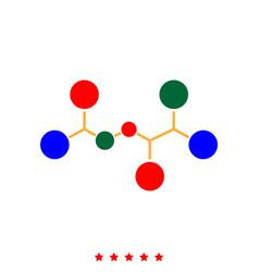 molecule icon different color vector image